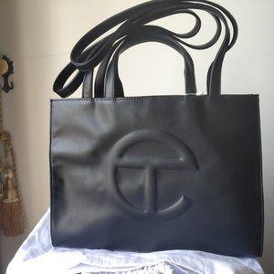 Telfar Medium Black Shopping Bag
